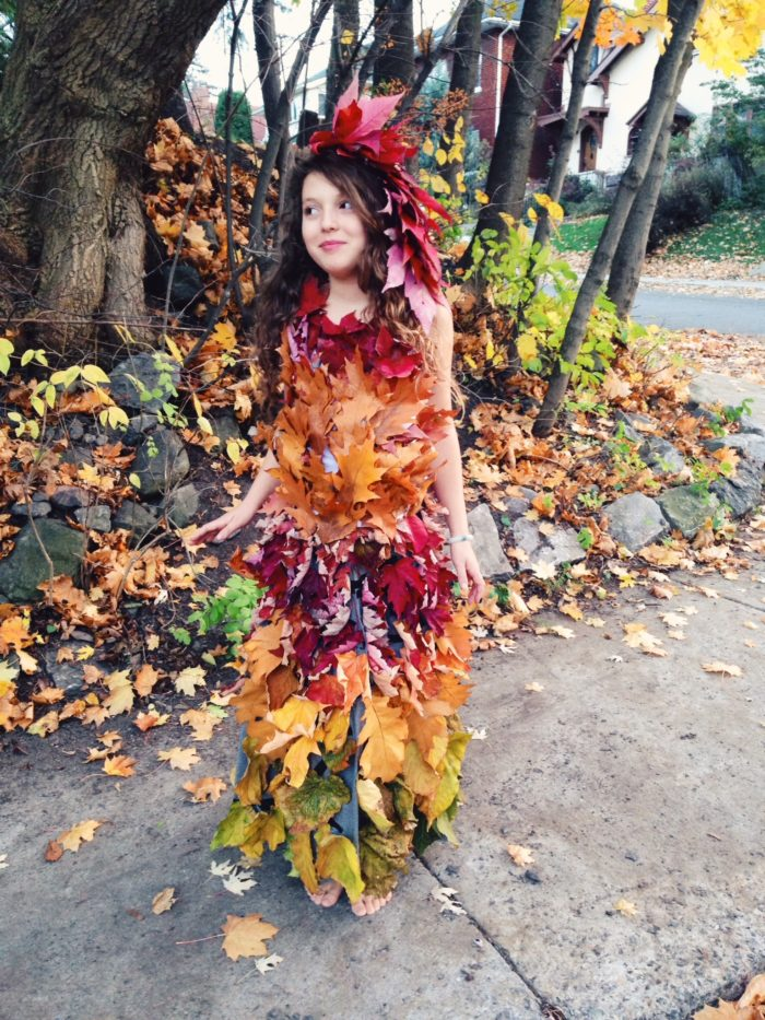 Make Your Own Mother Nature Leaf Dress