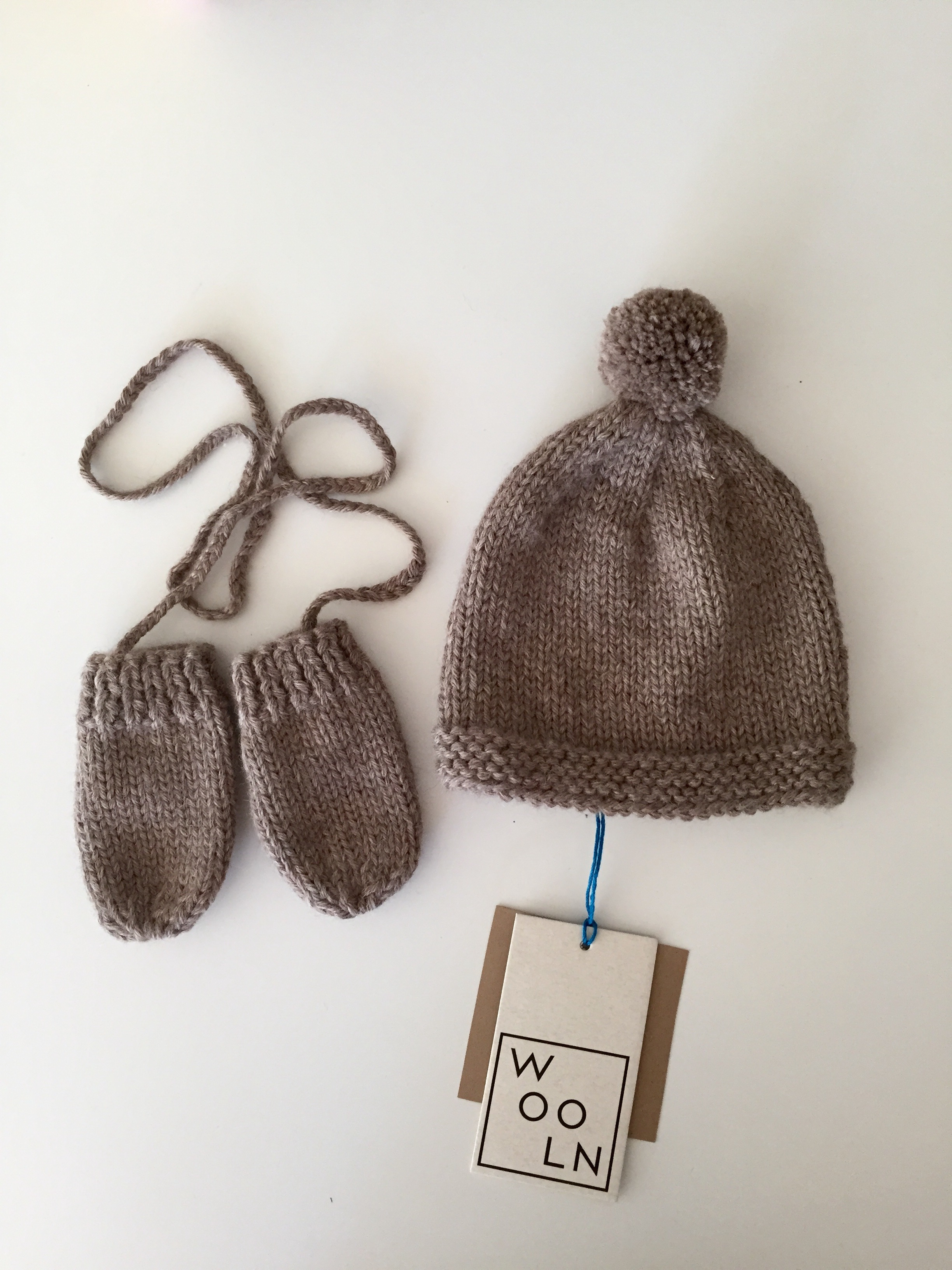 Wooln NYC BabyKit wool hat and mittens