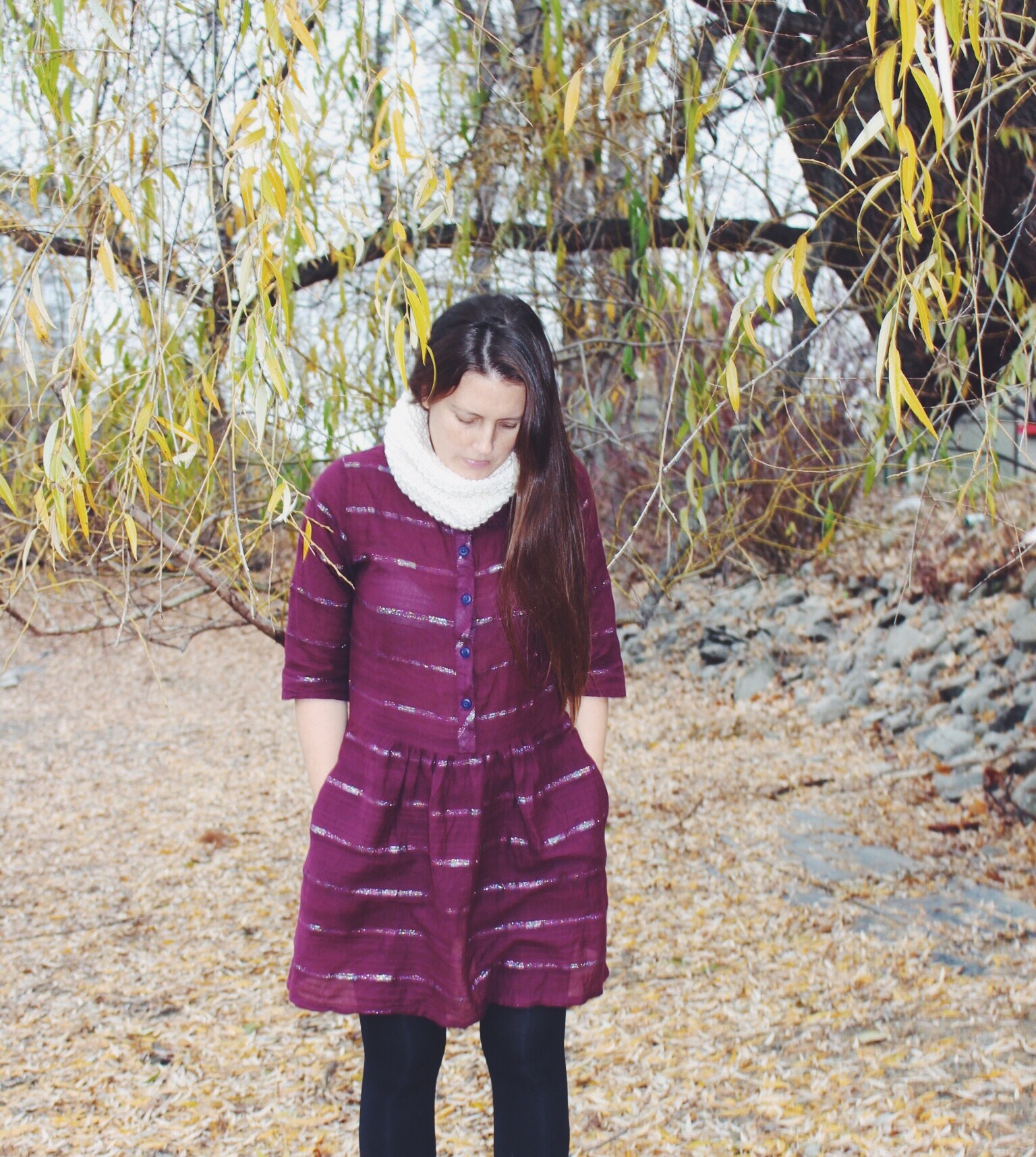Hippie in Disguise Danielle Chassin Ace & Jig dress Wooln snood